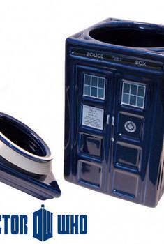 Doctor Who - Boite a Gateaux en Ceramique TARDIS