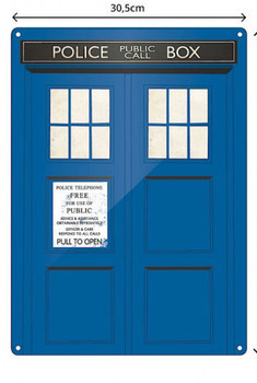 Doctor Who - Grande plaque metallique TARDIS