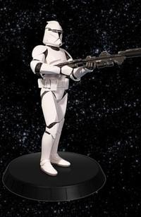 White Clone Trooper statue